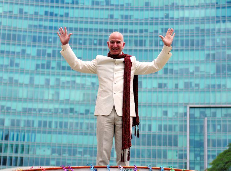 Jeff Bezos is de rijkste man op aarde, maar geen groot filantroop. Beeld Reuters