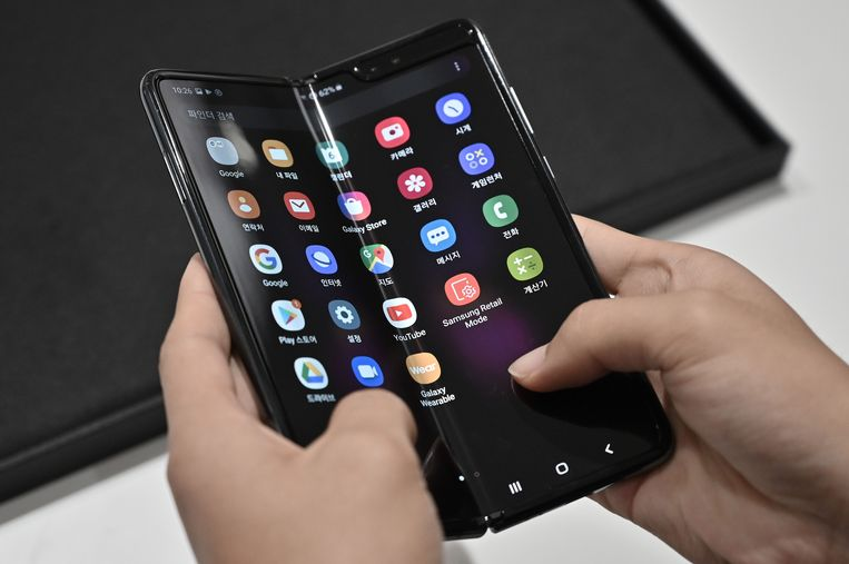 De eerste generatie plooibare smartphones van Samsung had een scherm dat dubbel zo groot was als dat van een gewone smartphone.
