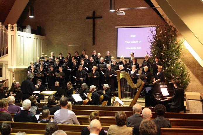 Koor Jubilate Deo uit Oene gaf zaterdagavond een concert in de Tabernakel in Vaassen. Het koor werd daarbij begeleid door kamerorkest d' Accordo.
