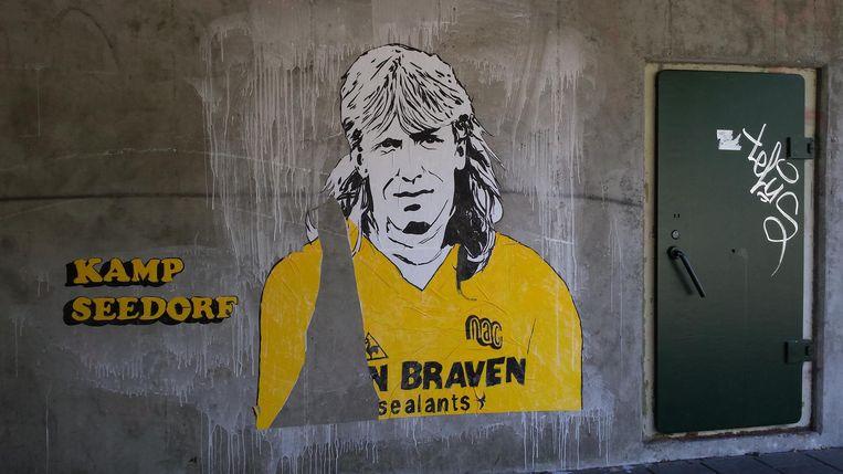 Het straatkunstwerk van Kamp Seedorf. Beeld Foto: Veronigque Smedts