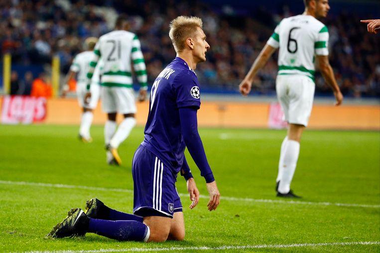 Teodorczyk vloekt tijdens Anderlecht-Celtic