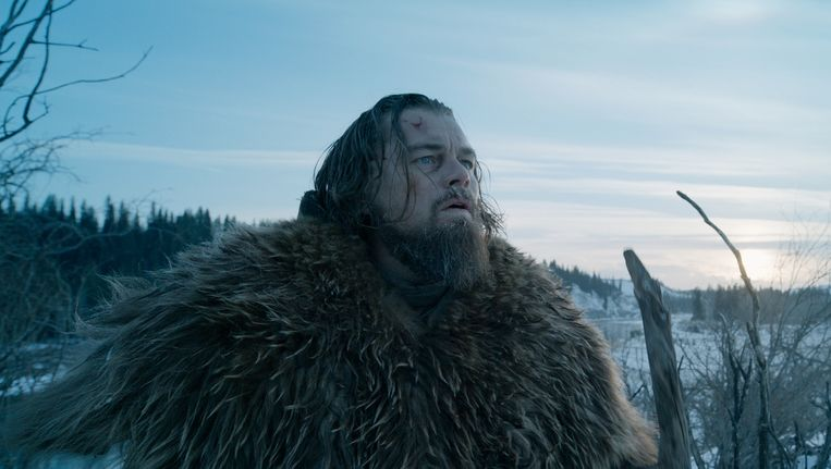 Leonardo diCaprio in The Revenant Beeld ap