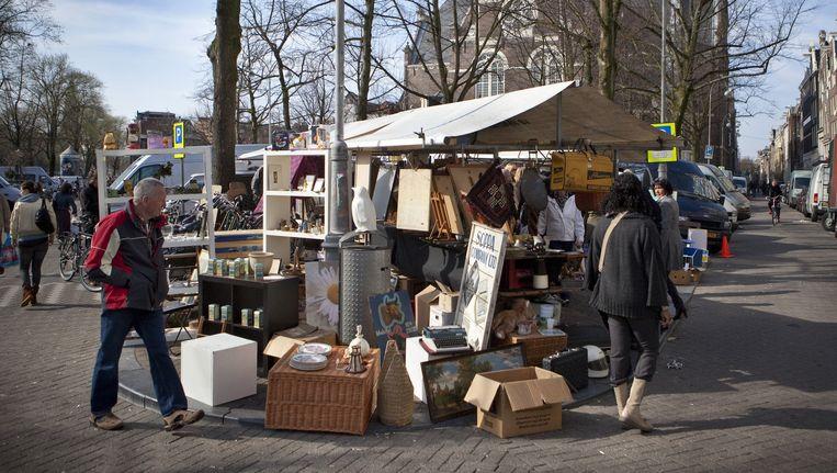 Ook op de Noordermarkt werden steekpenningen betaald Beeld Floris Lok