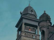 Klok in torentje van de Vooruit toont concentratie CO2 in de lucht: kunstencentrum gaat resoluut voor duurzaam
