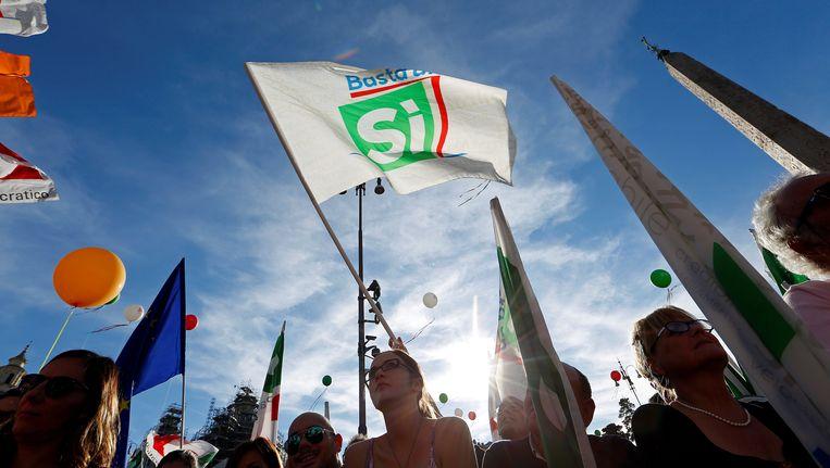 Kiest Italië voor een 'ja' bij het referendum morgen? Beeld REUTERS