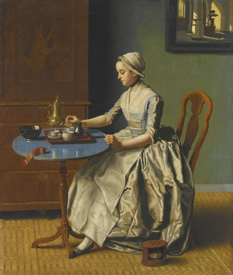 De Britse overheid heeft een exportvergunning afgegeven voor het schilderij Hollands meisje aan het ontbijt, wat betekent dat het schilderij naar Nederland kan worden vervoerd. Beeld ANP Handouts