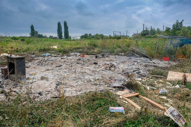 Archieffoto: het terrein van de Keelbeek, waar de gevangenis zou moeten komen.