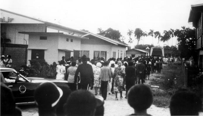 Begrafenis van een van de slachtoffers