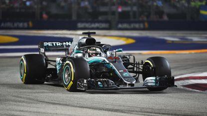 Hamilton deelt Vettel tik uit in nachtelijk Singapore, sterke Verstappen tweede – Vandoorne ruikt even punten maar strandt op twaalfde plek
