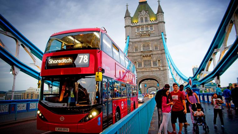 Toeristen in Londen Beeld anp