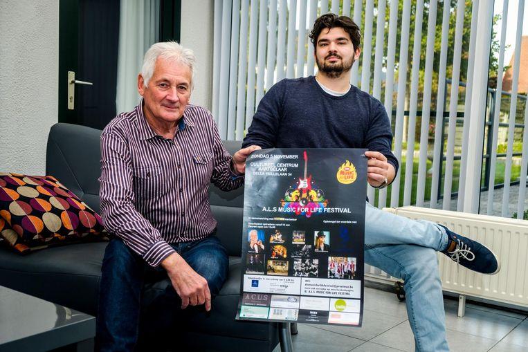 Hugo Mees en kleinzoon Eno organiseren een festival rond ALS omdat hun zoon/vader stierf aan de ziekte.
