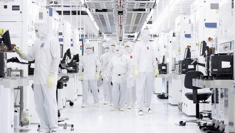 Chip-productie bij Samsung. Beeld