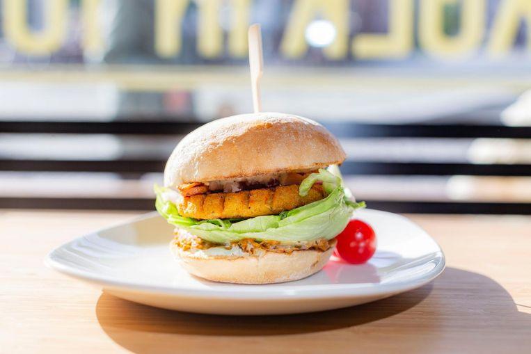 De groenteburger van Elis Gourmet Burger Beeld Rink Hof