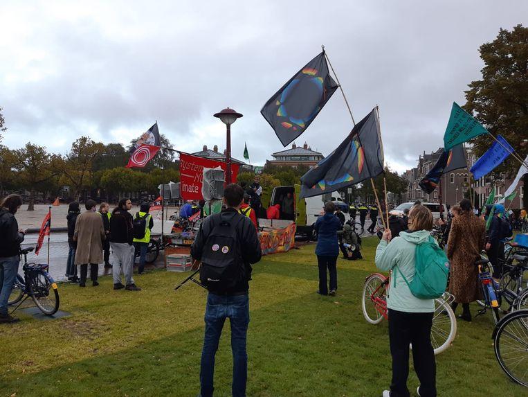 Demonstratie op het Museumplein. Beeld Het Parool