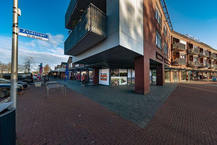 Leegstand in het winkelcentrum, een van de zorgen in Swifterbant.