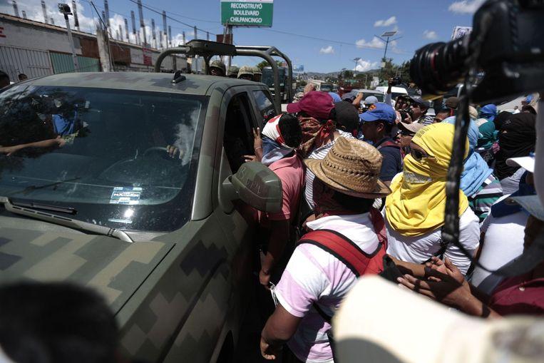 Demonstraties in Mexico. Beeld reuters