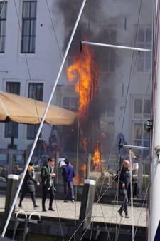 Brand op terras in Veere