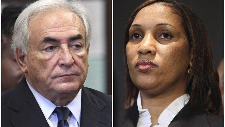DSK en Nafissatou Diallo. Beeld ap