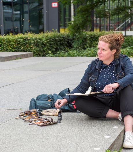 Urban sketchers actief in Eindhoven: 'Er is zat te tekenen hier'