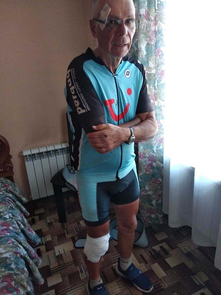 2018: De laatste 'actiefoto' van Roland Hurtecant. Bij een fietstocht naar Vladivostok kwam hij zwaar ten val en brak hij zijn schouder.