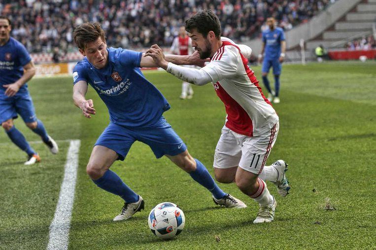 Amin Younes scoorde de vierde treffer voor Ajax. Beeld anp
