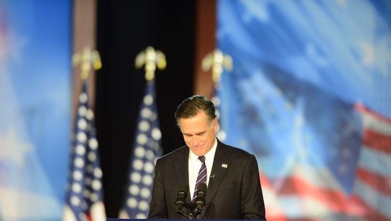 Romney erkent zijn verlies Beeld ANP