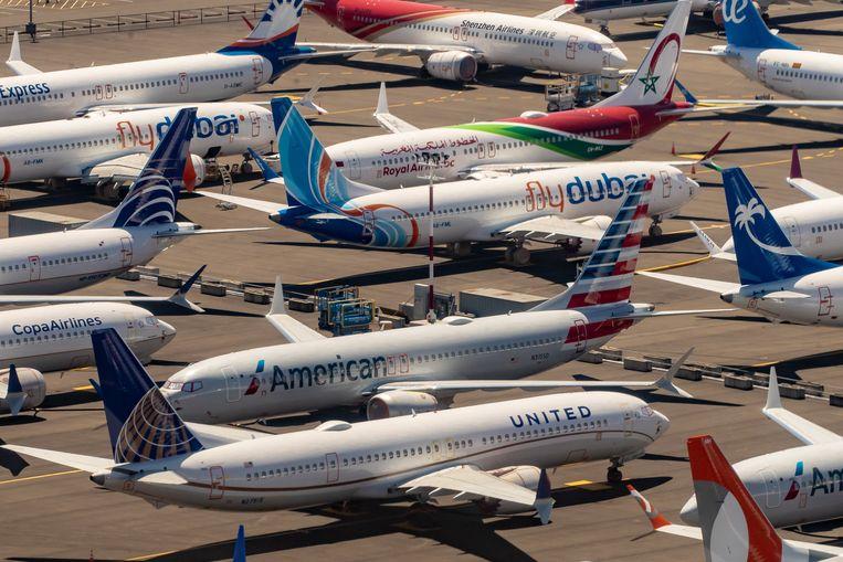 Na de twee dodelijke crashes moest de 737 MAX overal ter wereld aan de grond blijven staan.