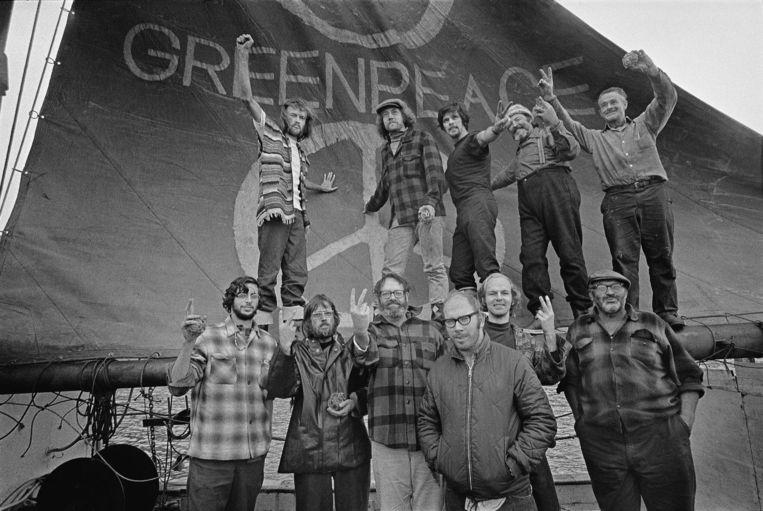 De jonge activisten van Greenpeace. Beeld