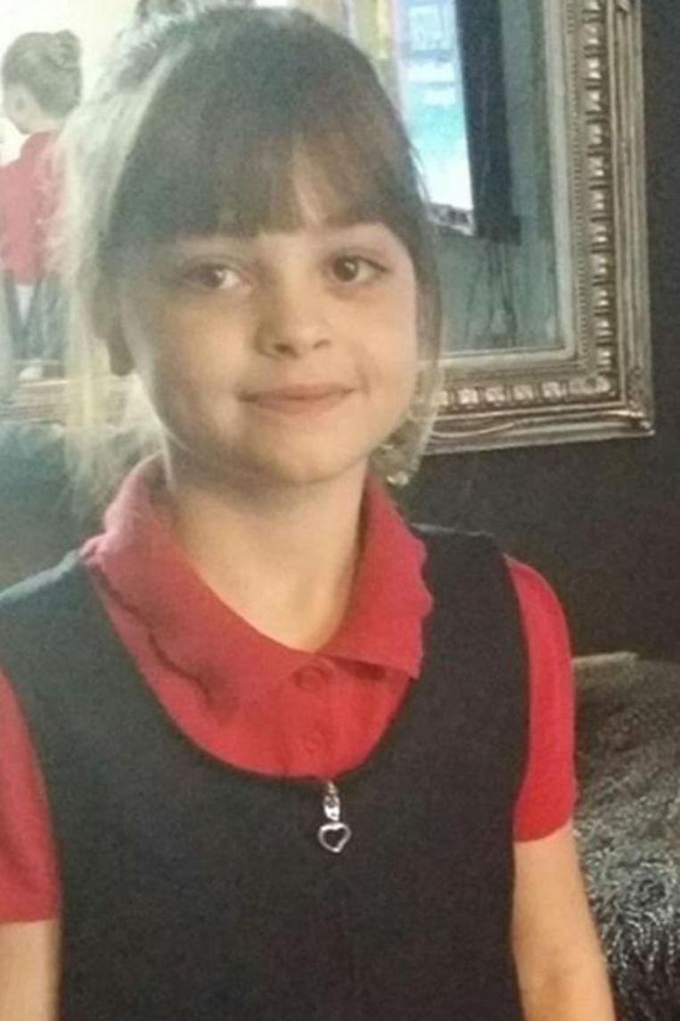 Saffie Rose Roussos, met haar acht jaar het jongste slachtoffer van de terreuraanslag in Manchester.