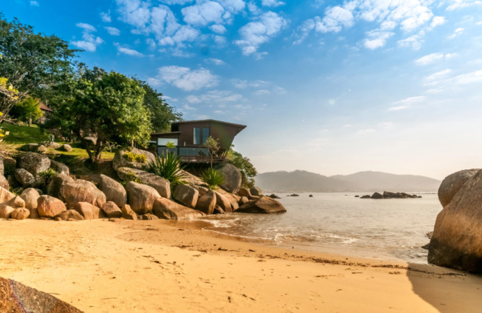 """Cette villa, située à Santa Catarina, au Brésil, a été """"favorisée"""" plus de 275.850 fois en 2019."""