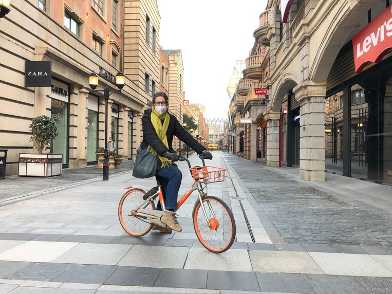 Leen Vervaeke in spookstad Wuhan. Beeld rv