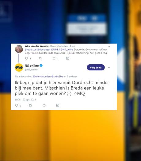Dordtenaren reageren boos op Tweet NS: 'Misschien is Breda een leuke plek om te wonen?'