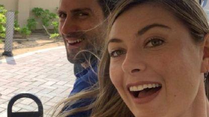 De eerste ontmoeting tussen Sharapova en Djokovic die al snel een date werd
