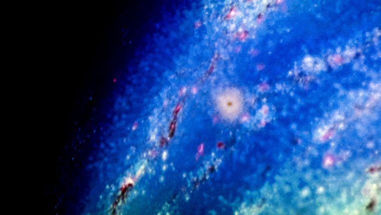 Gravitatiegolven zijn onderdeel van Einsteins zwaartekrachttheorie van precies een eeuw geleden, waarin hij ruimte en tijd als één flexibel geheel beschrijft Beeld anp