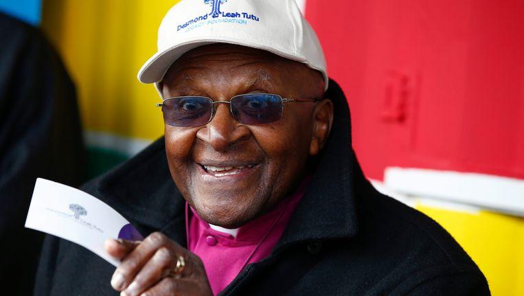 De Zuid-Afrikaanse oud-aartsbisschop Desmond Tutu Beeld epa