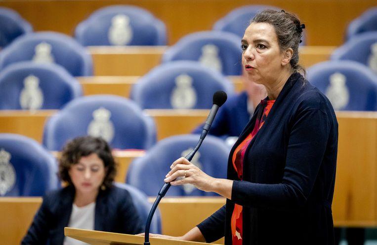 Isabelle Diks als Tweede Kamerlid voor GroenLinks. Beeld ANP