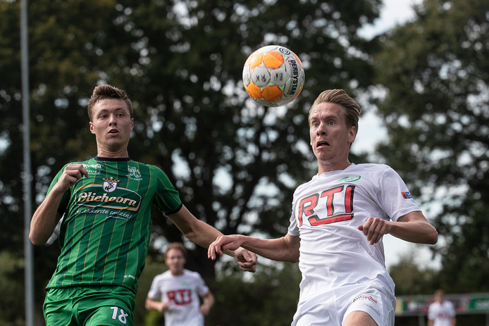 Sjors Storkhorst scoorde viermaal voor RKZVC in Amersfoort.