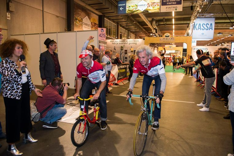 Dimitri Leue en Guido Belcanto koersten zich de ziel uit het lijf in de Antwerp Expo.