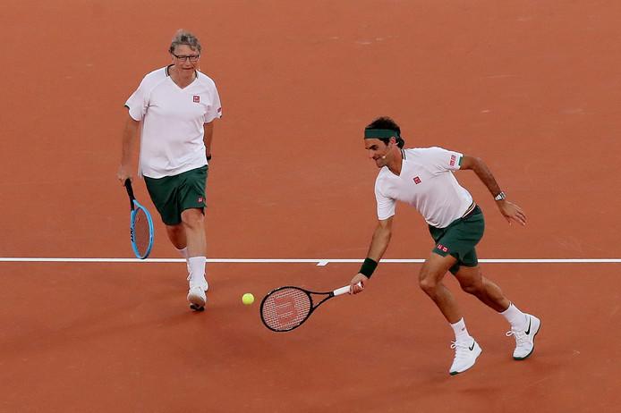 Roger Federer en Bill Gates.