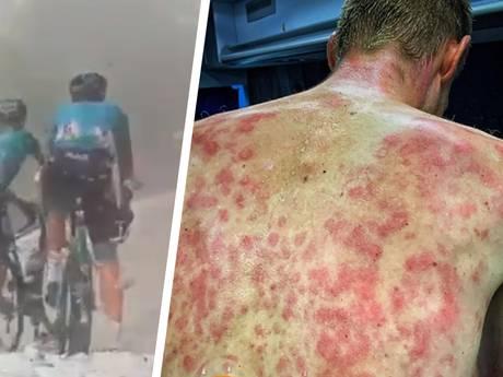 Hevige hagelbuien teisteren renners bij slotklim in Dauphiné
