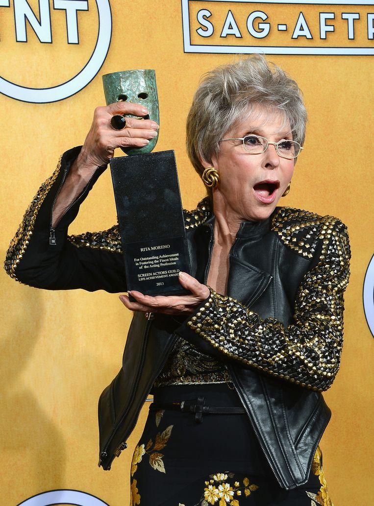 Rita Moreno wint de Lifetime Achievement Award Beeld getty
