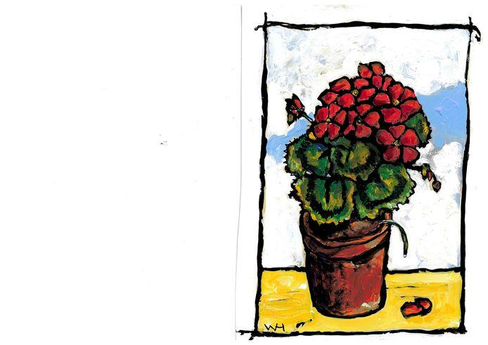 Illustratie Wim Hofman bij rubriek Geranium