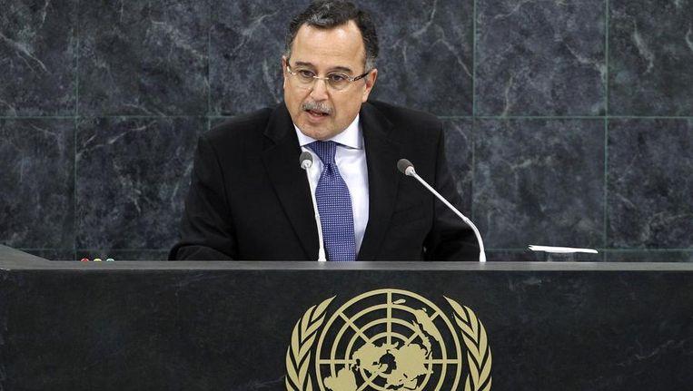 De Egyptische minister van Buitenlandse Zaken Nabil Fahmy. Beeld reuters