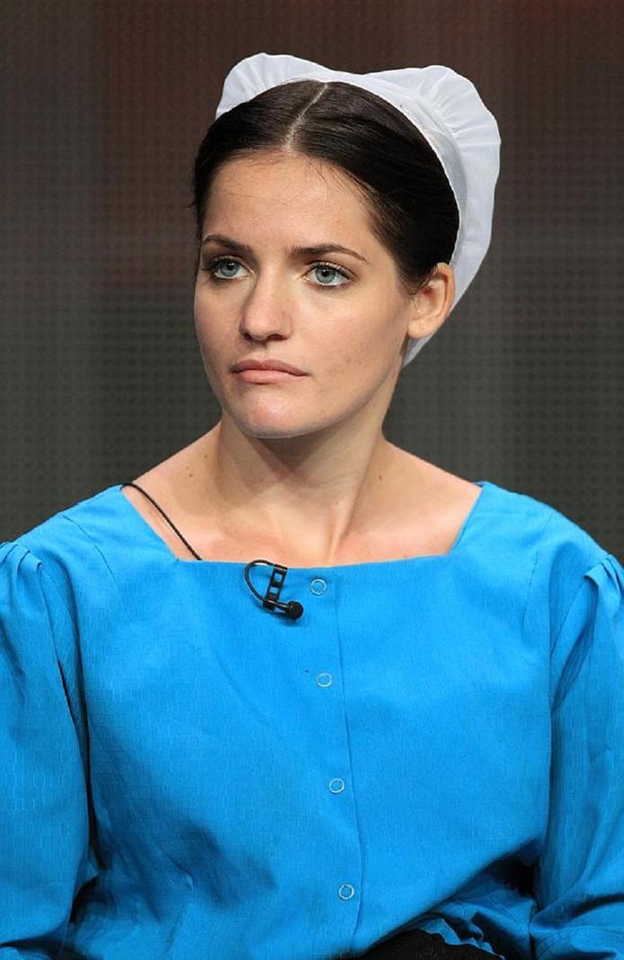 Kate Stoltz tijdens het realityprogramma 'Breaking Amish'.