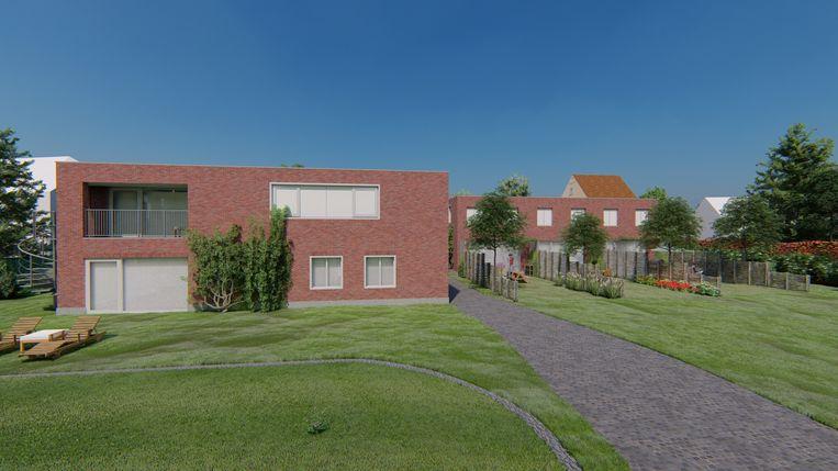 Zo moet het cohousingproject er in de toekomst uitzien.