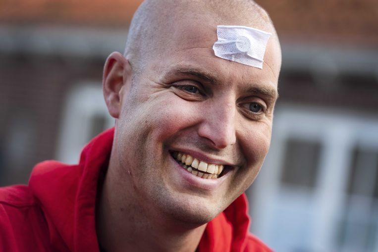 2019-05-11 18:06:17 MEDEMBLIK - Maarten van der Weijden oefent voor de Elfstedentocht door het IJsselmeer over te zwemmen.  Beeld ANP