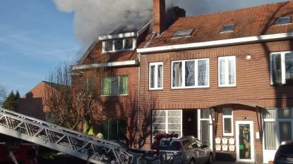 Opnieuw dakbrand in Hasselts kraakpand