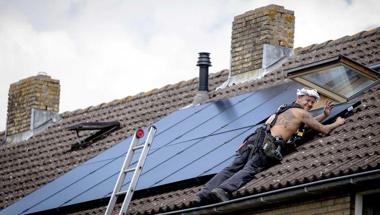 Het opgestelde zonnevermogen groeide afgelopen jaar in Nederland met meer dan 60 procent Beeld ANP