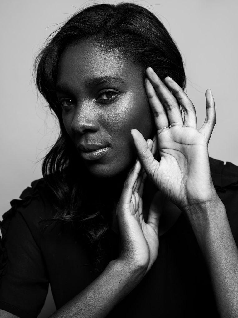 Model Jessica Gyasi. Beeld Robin de Puy
