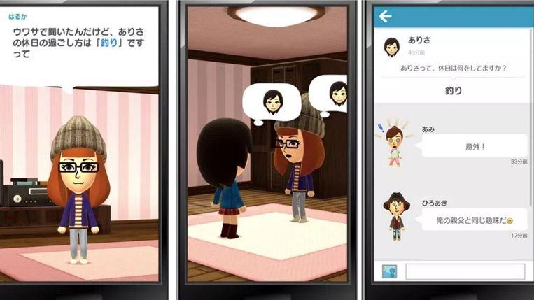 Miitomo, de teen die Nintendo in gaming voor mobiele telefoons en tablets steekt. Beeld Nintendo